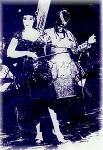 Meroe dancing with Fifi Abdu
