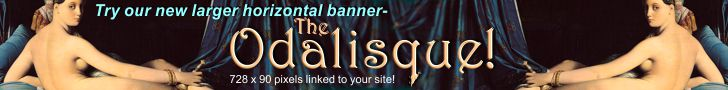 Try our new larger horizontal banner- the Odalisque!