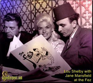 Lou Shelby with Jane Mansfield at the Fez