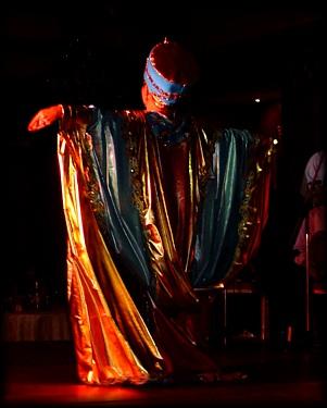 back of Asmahan's costume