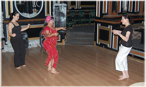 Fatima and Habiba dance with Khairiyya