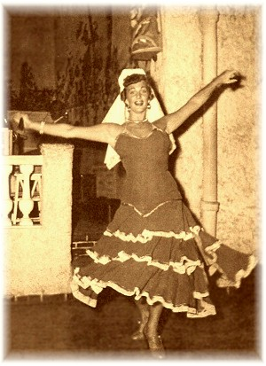 Toni as Spanish dancer