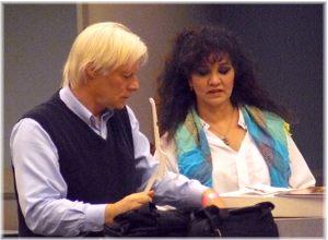 Miles and Sahra talk while at BDUC09