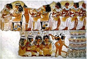 Banquet scene from the tomb of Nebamun