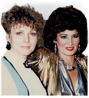 Najia Marlyz  with Nagwa Fouad in 1993