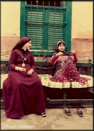 Sisters sewing