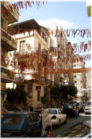 Streets decorated for Ramadan