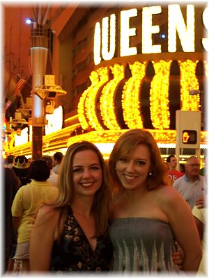 Sonja and friend in Las Vegas