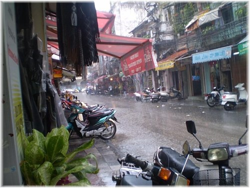 Tropical downpour in Hanoi