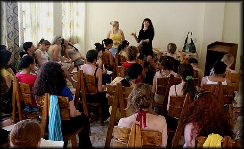 Sahra teaches class