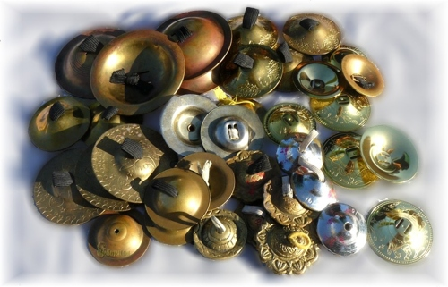 A Collection of Finger Cymbals or Zills by GildedSerpent.com