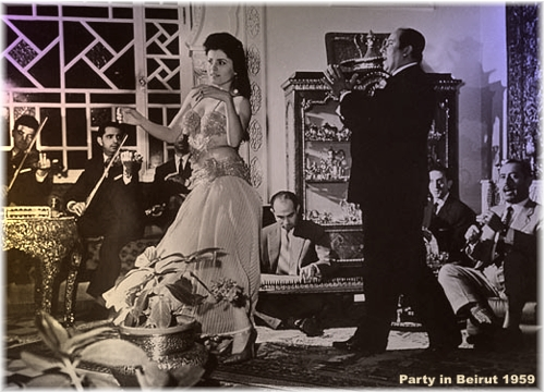 Party in Beirut in 1959