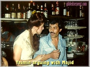 Yasmin arguing with Majid