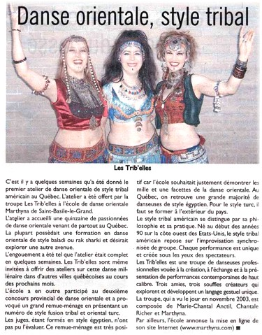 First Tribal Style Troupe in Quebec