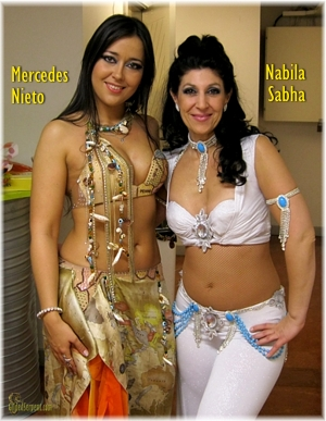 Nabila and Mercedes backstage