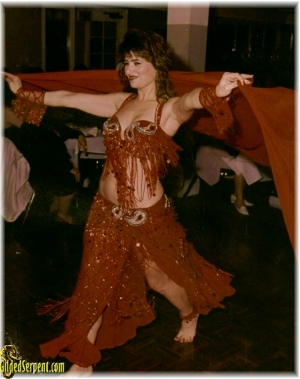 Author dancing at Scheharezade Restaurant in South San Francisco