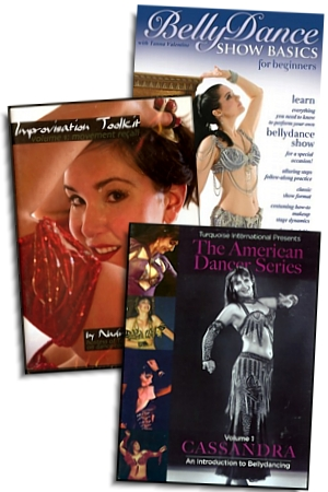 Lara reviews 3 Beginner Belly Dance DVDs