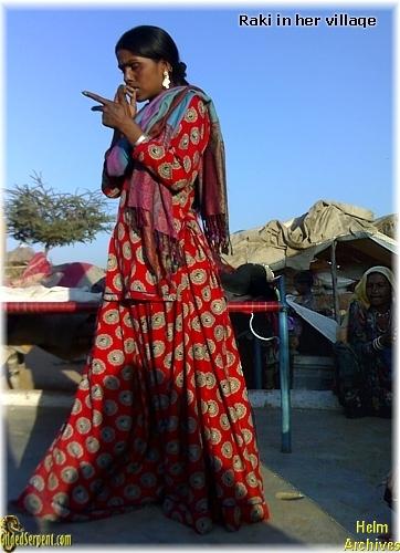 Raki in her village