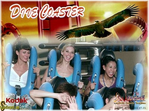 Lisa, Najla and myself braving the roller coaster