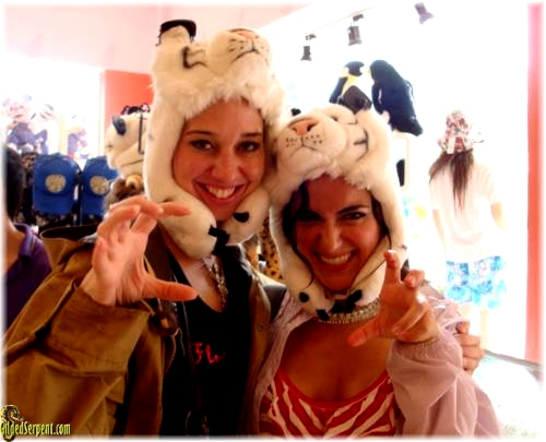 Ceanna and I with our new tiger hats (which we rocked for Halloween)