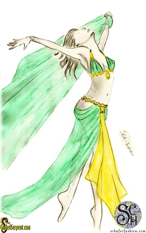 Costume Sketch by Katalin