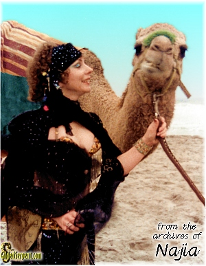 Najia with Camel in Big Sur