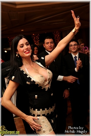 Leila performs at a wedding at the Semiramis Hotel in Cairo