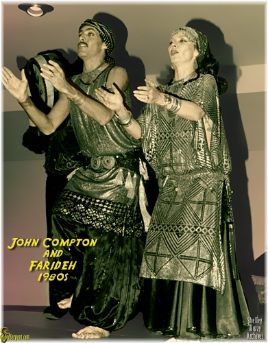 John Compton and Farideh in the 1980s