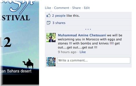 FB page threats