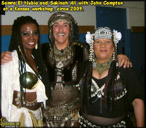 John with Somra El Nubia and Sakinah Ali