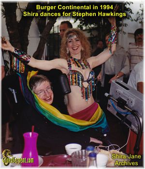 Dancing for Stephen Hawkings in 1994