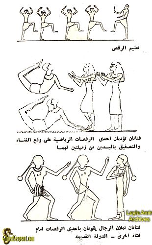 Teaching dance in ancient Egypt
