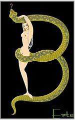 Erte's snake dancer