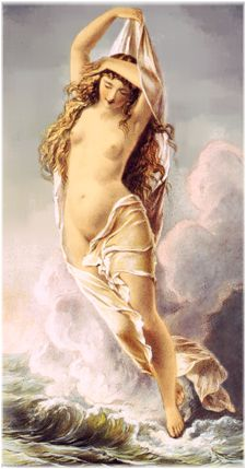 Venus arises from the waves
