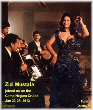 Zizi Mustafa joining us on the Camp Negum Cruise 2013 from Luxor to Aswan Egypt. Jan 23-28
