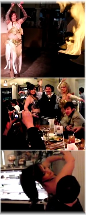 Screenshot collage from Athenian video