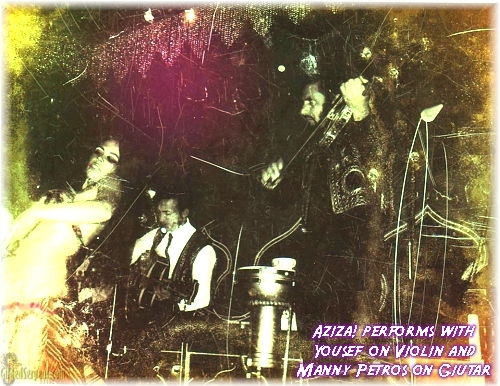 Aziza! performs with Yousef on violin and Manny Petros on guitar- ~late 60s?