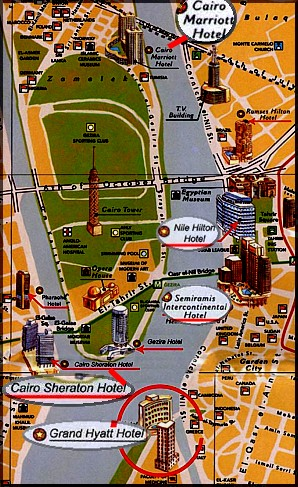 Map of Downtown Cairo