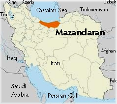 Mazandaran map