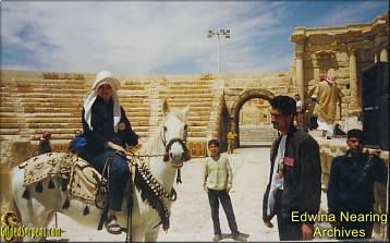 Nearing in the ancient ruins of Palmyra (Tadmor), Syria