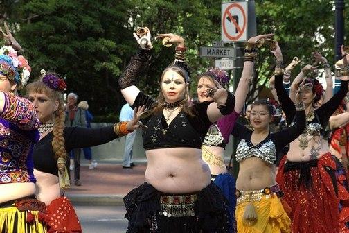 Bellydancers lead the Gay Pride Parade in San Francisco this last weekend