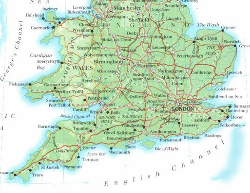Map Of Southern England Map Of Southern England | compressportnederland Map Of Southern England