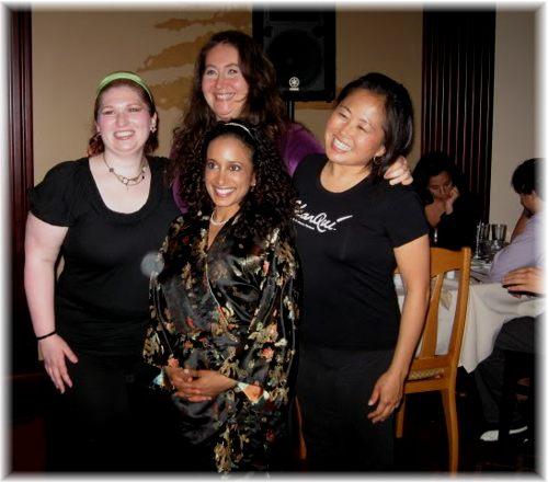 Rachel poses with fellow dancers