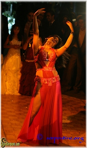 Leila Farid dancing at the wedding located at the Grand Hyatt